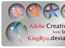 Adobe Creative Suite Glass Orbs