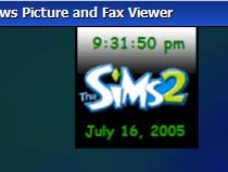 the sims 2 logo clock