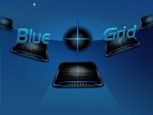 Blue Cross (+) Grid