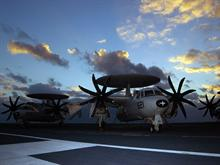 E-2C at Sunset