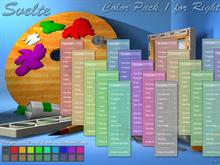 Svelte RC Color Pack 1