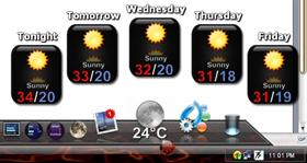 Weather Backdrop - Black Gloss