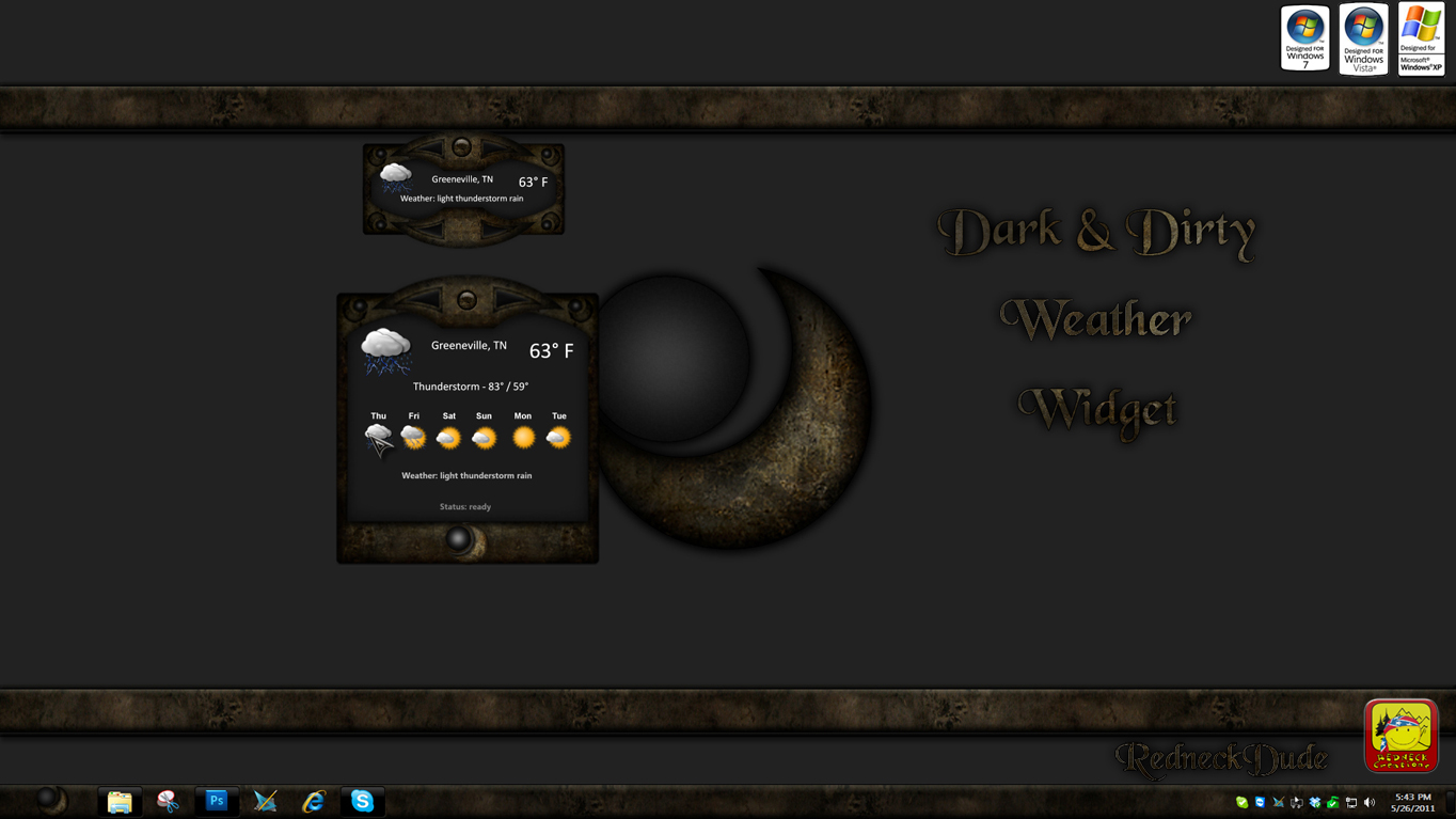 Dark and Dirty Weather Widget