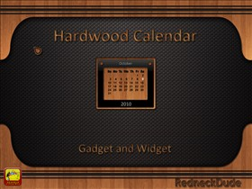 Hardwood Calendar Gadget and Widget
