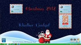 Christmas 2012 Weather Gadget