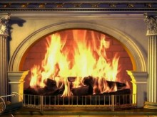 the virtual fireplace