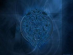 Tribal Lion Blue