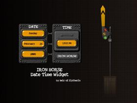 Iron Horse Date Time Widget