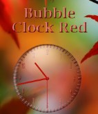 Bubble Clock Red